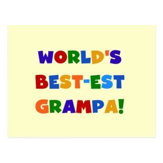 Bright Colors World's Best-est Grampa Gifts Postcard