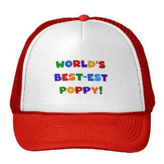 Bright Colors World's Best-est Poppy Gifts Trucker Hat