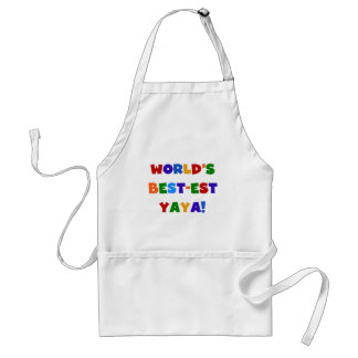 Bright Colors World's Best-est Yaya Gifts Adult Apron