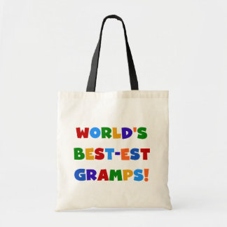 Bright Colors World's Best Gramps Gifts Budget Tote Bag