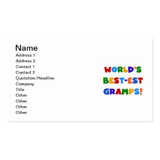 Bright Colors World's Best Gramps Gifts Business Card