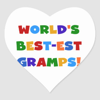 Bright Colors World's Best Gramps Gifts Heart Sticker
