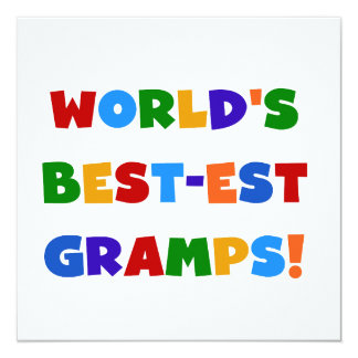 Bright Colors World's Best Gramps Gifts 5.25x5.25 Square Paper Invitation Card