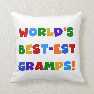 Bright Colors World's Best Gramps Gifts Throw Pillow