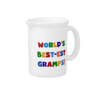 Bright Colors World's Best Gramps Gifts Beverage Pitchers