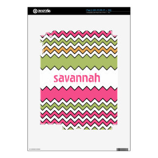 Bright Colors Zigzag Personalized iPad Skin