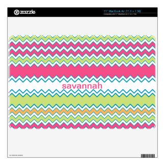 Bright Colors Zigzag Personalized MacBook Air Skin