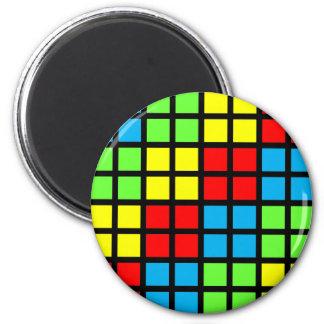Bright Coloured Optical Illusion Magnet