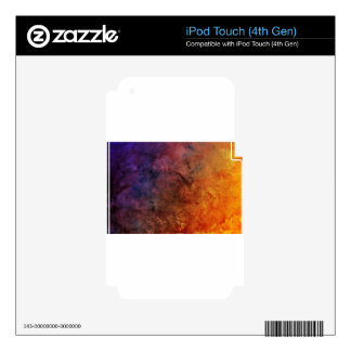 Bright colourful abstract grunge Colour explosion! iPod Touch 4G Decal