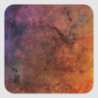 Bright colourful abstract grunge Colour explosion! Square Sticker