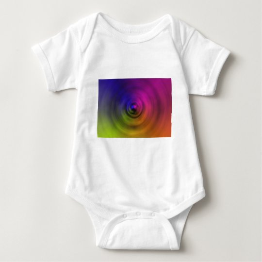 Bright colours of spiral blur as an abstract baby bodysuit