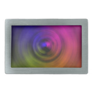 Bright colours of spiral blur as an abstract rectangular belt buckle