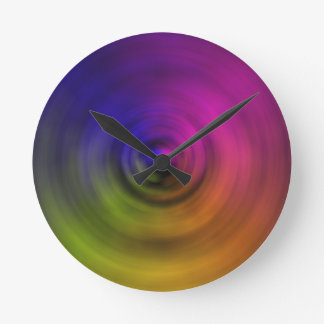 Bright colours of spiral blur as an abstract round clock