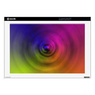 Bright colours of spiral blur as an abstract skin for laptop