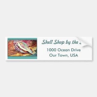 Bright Conch Shell Bumper Sticker