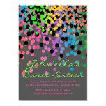 Bright Confetti Sweet Sixteen Party Invitation