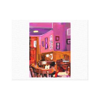 Bright contemporary original digital painting canvas print