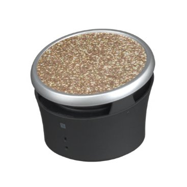 Beach Themed Bright Copper Glitter Sparkles Bluetooth Speaker