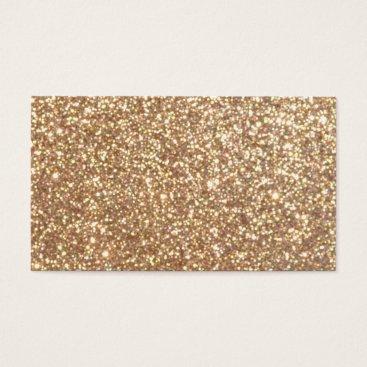 Beach Themed Bright Copper Glitter Sparkles Business Card