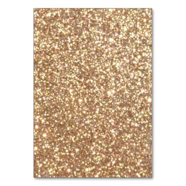 Beach Themed Bright Copper Glitter Sparkles Card