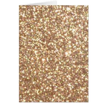Beach Themed Bright Copper Glitter Sparkles Card