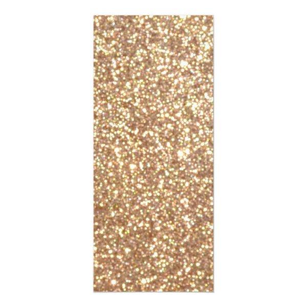 Bright Copper Glitter Sparkles Card