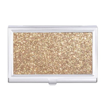 Beach Themed Bright Copper Glitter Sparkles Case For Business Cards