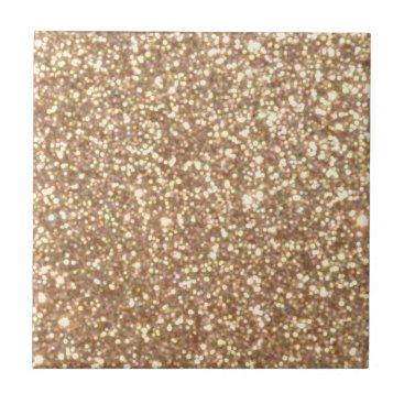Beach Themed Bright Copper Glitter Sparkles Ceramic Tile