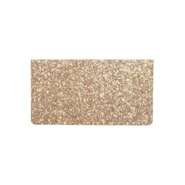 Beach Themed Bright Copper Glitter Sparkles Checkbook Cover