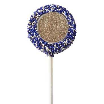 Beach Themed Bright Copper Glitter Sparkles Chocolate Dipped Oreo Pop