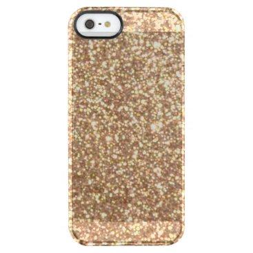 Beach Themed Bright Copper Glitter Sparkles Clear iPhone SE/5/5s Case