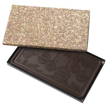 Beach Themed Bright Copper Glitter Sparkles Dark Chocolate Bar
