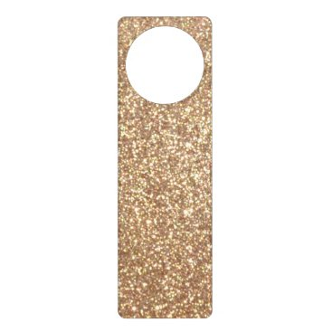 Beach Themed Bright Copper Glitter Sparkles Door Hanger