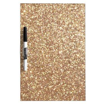 Beach Themed Bright Copper Glitter Sparkles Dry Erase Board