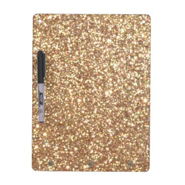 Beach Themed Bright Copper Glitter Sparkles Dry Erase Board