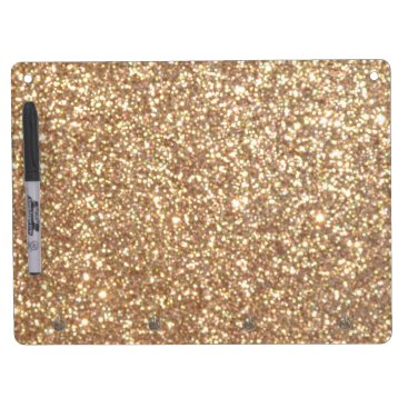 Beach Themed Bright Copper Glitter Sparkles Dry Erase Board With Keychain Holder