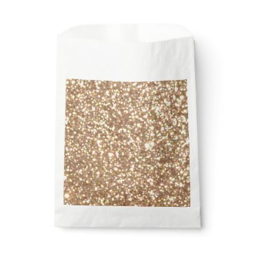 Beach Themed Bright Copper Glitter Sparkles Favor Bag