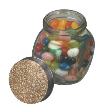 Beach Themed Bright Copper Glitter Sparkles Glass Jars