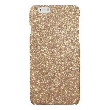 Beach Themed Bright Copper Glitter Sparkles Glossy iPhone 6 Case