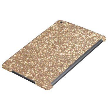 Beach Themed Bright Copper Glitter Sparkles iPad Air Cases