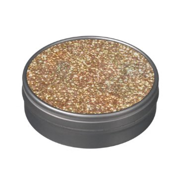 Beach Themed Bright Copper Glitter Sparkles Jelly Belly Tins