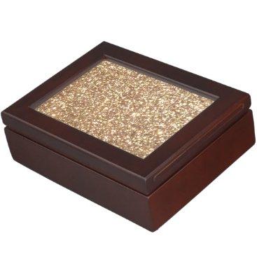 Beach Themed Bright Copper Glitter Sparkles Keepsake Box