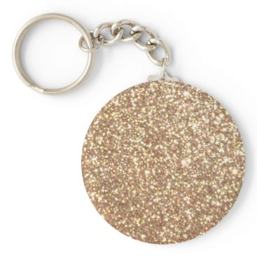 Beach Themed Bright Copper Glitter Sparkles Keychain