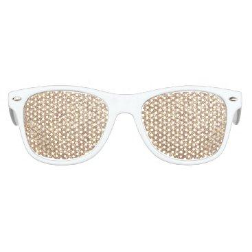 Beach Themed Bright Copper Glitter Sparkles Kids Sunglasses