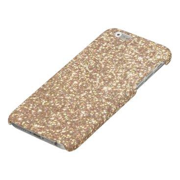 Beach Themed Bright Copper Glitter Sparkles Matte iPhone 6 Case