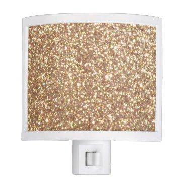 Beach Themed Bright Copper Glitter Sparkles Night Light