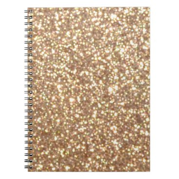 Beach Themed Bright Copper Glitter Sparkles Notebook