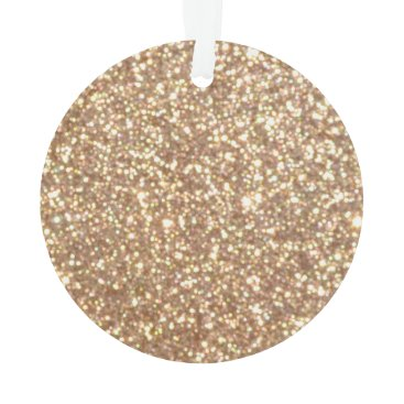 Beach Themed Bright Copper Glitter Sparkles Ornament