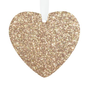 Beach Themed Bright Copper Glitter Sparkles Ornament