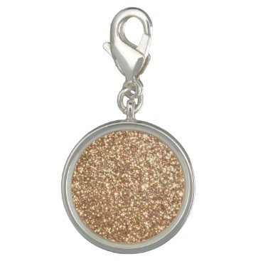Beach Themed Bright Copper Glitter Sparkles Photo Charm